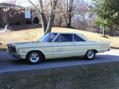 Yellow 1966 Plymouth Sport Fury #auto #cars