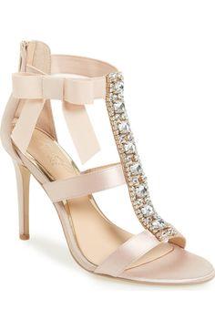 Main Image - Badgley Mischka Henderson Embellished Bow Sandal (Women)