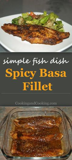 Spicy Basa Fillet recipe is a simple recipe for fish. This seafood dish is loaded with flavor and spices. To make, you just mix the soy sauce, melted butter, lemon juice, herb and spice, coat the fillets and bake.