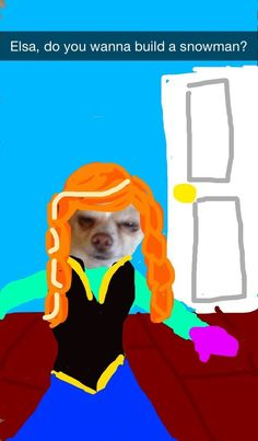 Anna | Community Post: These Snapchats Of A Dog Turned Into Disney Princesses Are Fantastic