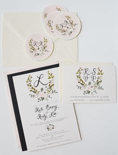 My goodness these are stunning! I love that they're sweet yet refined, and created by an indie artist. And the aesthetic is so wonderfully similar to that of the ever-lovely Rifle Paper Co, too...