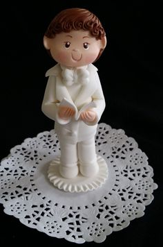 First Communion Girl Cake Topper, Girls Baptism Cake Topper, First Communion Favor, Communion Boy, Girl Baptism , Baptism Cake Topper, Communion Decorations - Cake Toppers Boutique  - 3