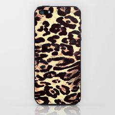 Leopard Print iPhone & iPod Skin by Charlene McCoy - $15.00