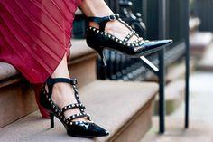 DIY Studded Kitten Heels