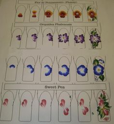 How to do one stroke flowers on nails. Beautiful one stroke nail art - with polycolor acrylic nail art paints from http://ajiboye.digimkts.com/