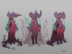 ArtStation - Random Demon sketches, Olivier Désirée