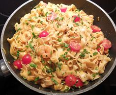 Rezept Tagliatelle mit Garnelen in Flußkrebssoße von Schirmle - Rezept der Kategorie Hauptgerichte mit Fisch & Meeresfrüchten