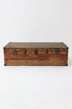 Pretty positive I WILL have a sweet trunk like this as a coffee table if I decide to go with the cream/white/beige style living room.
