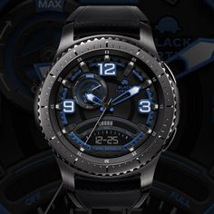 We are making the watch face of Samsung gear. Thank you for coming! Watch Gears, Watch Faces, Smartwatch, Luxury Watches, Gadgets, Samsung Galaxy, Classic, Black, Fashion