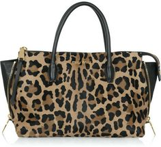 Miu Miu Leopard-print calf hair tote on shopstyle.com