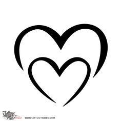 M+M heart. Bond. This simple heart shaped by two Ms was requested by Millie to represent the bond she shares with her sister. Hi-res and more heart tattoos at http://www.tattootribes.com/index.php?newlang=English&idinfo=7642