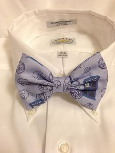 Doctor Who Tardis and Gallifreyan Bowtie / Bow Tie or Hair Bow on Etsy, $10.00