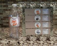 Printable Woodland Baby Shower Water Bottle by msmemories101