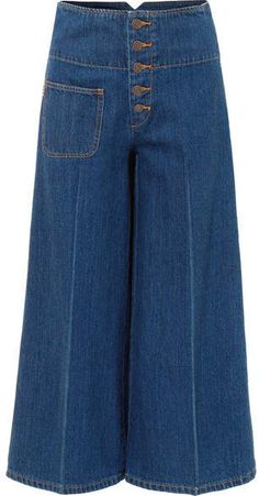 Shop on-sale Cropped high-rise wide-leg jeans. Browse other discount designer Flared Jeans & more luxury fashion pieces at THE OUTNET Wide Leg Trousers, Wide Leg Jeans, Cropped Pants, Couture, Fashion Pants, Fashion Outfits, Square Pants, Pantalon Large, Pants For Women