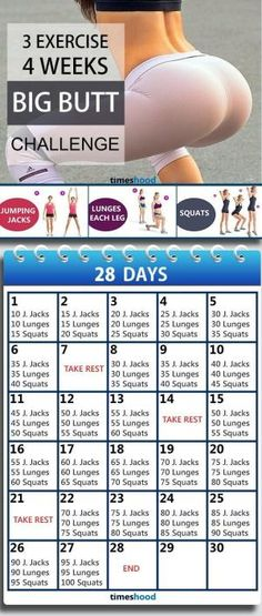 3 Exercise and 4 Weeks Butt workout plan for fast results. Butt workout for beginners. Butt workout challenge at home without any instruments. 28 Days bigger butt workout plan. by bertha