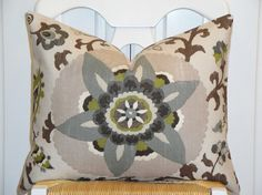 pillow with olive green