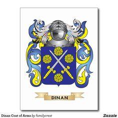Dinan Coat of Arms Postcard