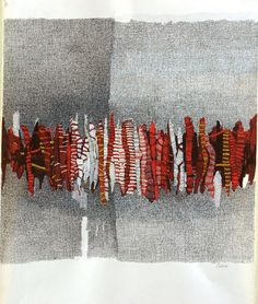 Some abstract drawings by Candelaria Palacios. Textile Fiber Art, Textile Artists, Techniques Textiles, Creative Textiles, Quilt Modernen, Arte Popular, Fabric Manipulation, Art Plastique, Embroidery Art