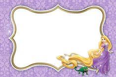 www.milfiestasinfantiles.com invitaciones-fiestas-infantiles invitaciones-de-enredados-o-rapunzel-para-imprimir-gratis Tangled Birthday, Tangled Party, Princess Birthday, 7th Birthday, Princess Party, Disney Rapunzel, Disney Fun, Rapunzel Invitations, Christmas Frames