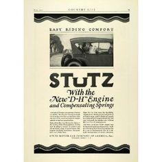 1922 Ad Antique Stutz Motor Car Enclosed Automobile Car