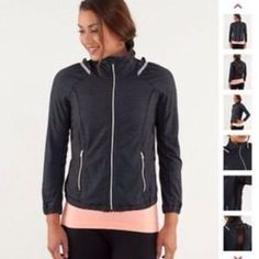 Black Run Nada Jacket. Size 2. $60 on  eBay. This has been one of my favorite warm up tops for workouts