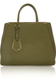 Fendi 2Jours textured-leather shopper NET-A-PORTER.COM