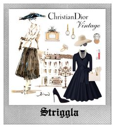 """New look..."" by striggla ❤ liked on Polyvore featuring Polaroid, Casadei, Mark & Graham, Ross-Simons, Christian Dior, DaVonna, David Yurman, Dsquared2, Eric Javits and vintage"