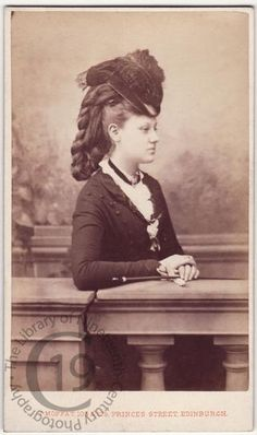 Unidentified sitter    Photographed by John Moffat of Edinburgh. 1870s