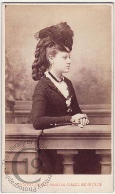 Unidentified sitter    Photographed by John Moffat of Edinburgh. 1870s