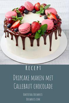 Cake Recept, Fruit Cake Design, Macaroon Cake, Birtday Cake, 21st Cake, Chocolate Drip Cake, Cake Decorating For Beginners, Fun Desserts, Dessert Recipes