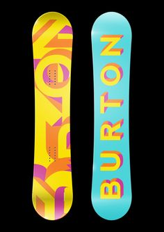 Burton Snowboard Designs by Paige Lauman, via Behance