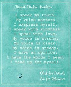 throat chakra mantras