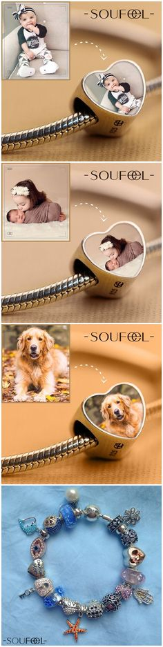 DIY your photo charms, compatible with Pandora bracelets. Make your gifts special. Make your life special! Meaningful gifts for every special day/holiday! Photo Jewelry, Diy Jewelry, Jewelry Accessories, Jewelry Making, Jewlery, Homemade Gifts, Diy Gifts, Cute Gifts, Great Gifts