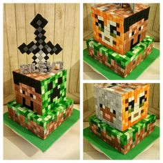 Minecraft Cake - Cake by Sugarism by Anne