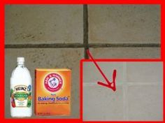 How To Naturally Clean Grout and Tiles… Here's what you need: - 4 cups baking soda - 1 cup white vinegar - 3 cups of warm water - 1 cup hydrogen peroxide (35% strength – so wear gloves when handling) - Sponge - An old toothbrush - Clean dry cloth - Spray bottle