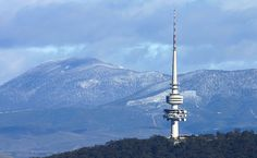 Mt Coree in the Brindabellas, with Telstra Tower - Canberra, Australia