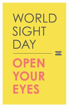 Join a global movement on October 11, 2012 to bring awareness of visual impairment and blindness as a solvable world issue. Speak out for the right to sight... ...and restore so much more than vision. #GIVEsight #TOMS www.TOMS.com/world-sight-day