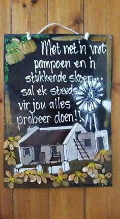 Birthday Songs, Birthday Wishes, Diy Arts And Crafts, Diy Crafts, Pallet Wall Decor, Afrikaanse Quotes, Goeie More, Diy Wood Signs, Wooden Hearts