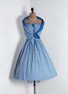 1950's Vintage Turquoise-Blue and White Picnic Garden Wedding Cocktail Party