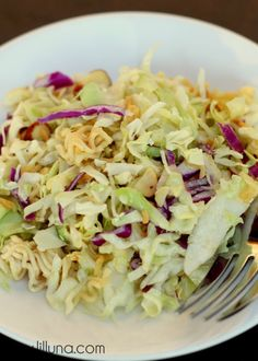 Asian Ramen Salad on { lilluna.com } LOVE this recipe! #salad