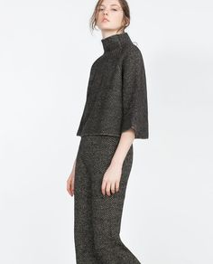 ZARA - SALE - HERRINGBONE SWEATER