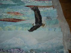 close up of the eagle - not sewn on yet and will only be if you want it on...
