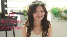 Size of bridesmaid/flowergirl crowns....how to make a babies breath flower crown - bridesmaids