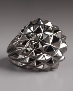 Stephen Webster- Superstud Ring  • Sterling silver with black rhodium finish.  • Pyramid studs. • Made in the UK.  395 USD
