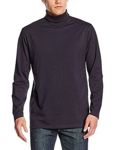 e344b29c3 Henbury Men's Roll Neck Long Sleeved Top Jumper: Amazon.co.uk: Clothing