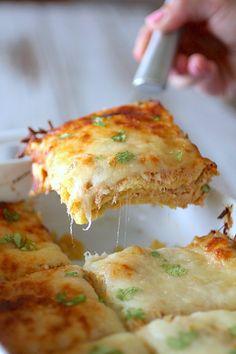 Cheesy Chicken & Green Chili Lasagna