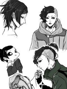 Tokyo Ghoul Uta, Ayato Kirishima, Boy Tattoos, Anime Manga, Anime Boys, Kaneki, Manga Games, Boku No Hero Academia, Cute Art