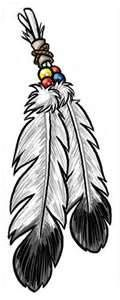 Eagle Feathers Temporary Tattoos Actual Size = 2 X 5