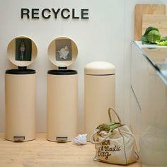Organizando a reciclagem com estilo e charme