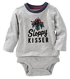 OshKosh B'Gosh® Baby Boys' Sloppy Kisser Bodysuit